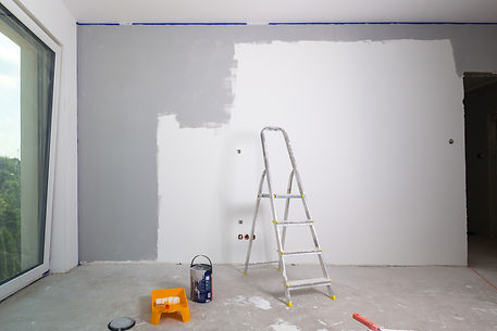 House interior at painting and renovatio