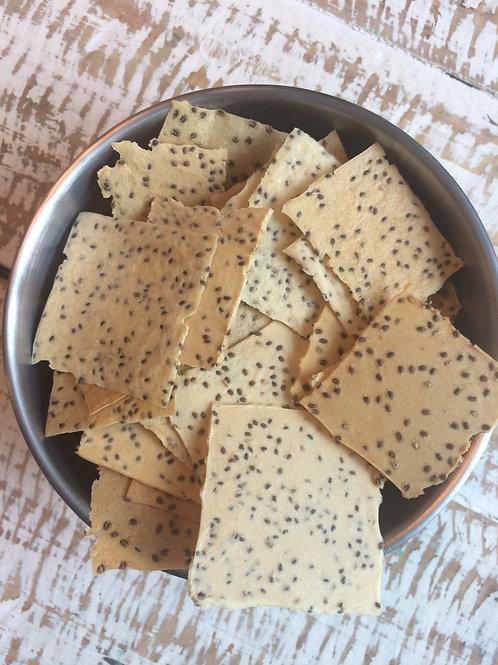 Chip de Batata-doce com chia