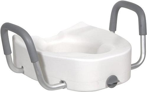 Premium Elongated Raised Toilet Seat with Lock