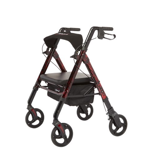 Lifestyle Regal - Bariatric Aluminum 4 Wheel with Universal Height Adjustment