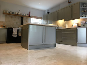 Travertine Entrance Hall Kitchen floor c