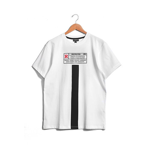 R-Rated Short Sleeve T-Shirt White