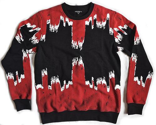Skyline Fleece Knit Red
