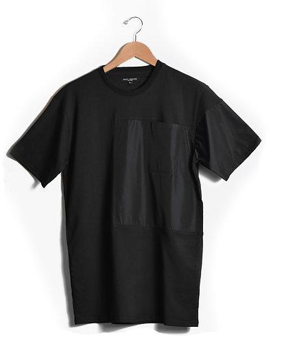 Nylon Blockpocket Tshirt Black