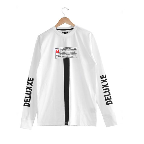 R-Rated LongSleeve Tshirt White