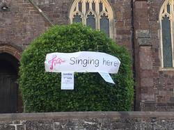 Tale Valley Choir banner