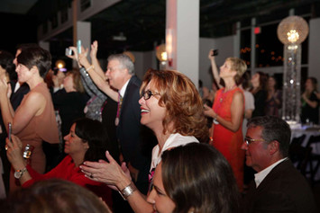 Friends and Family react to runway event