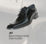 Jet Black Patent Leather Shoe