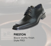 Preston Black Matte Leather Shoe