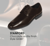 Stanford Chocolate Brown Leather Shoe