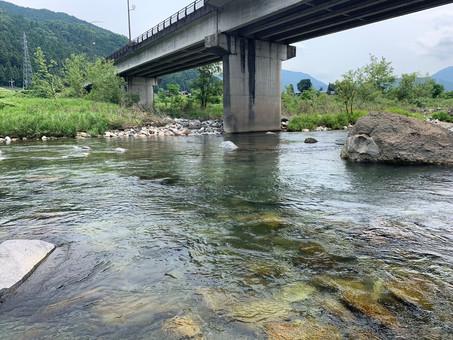 九頭竜川 阪谷新橋 360度水中カメラ映像