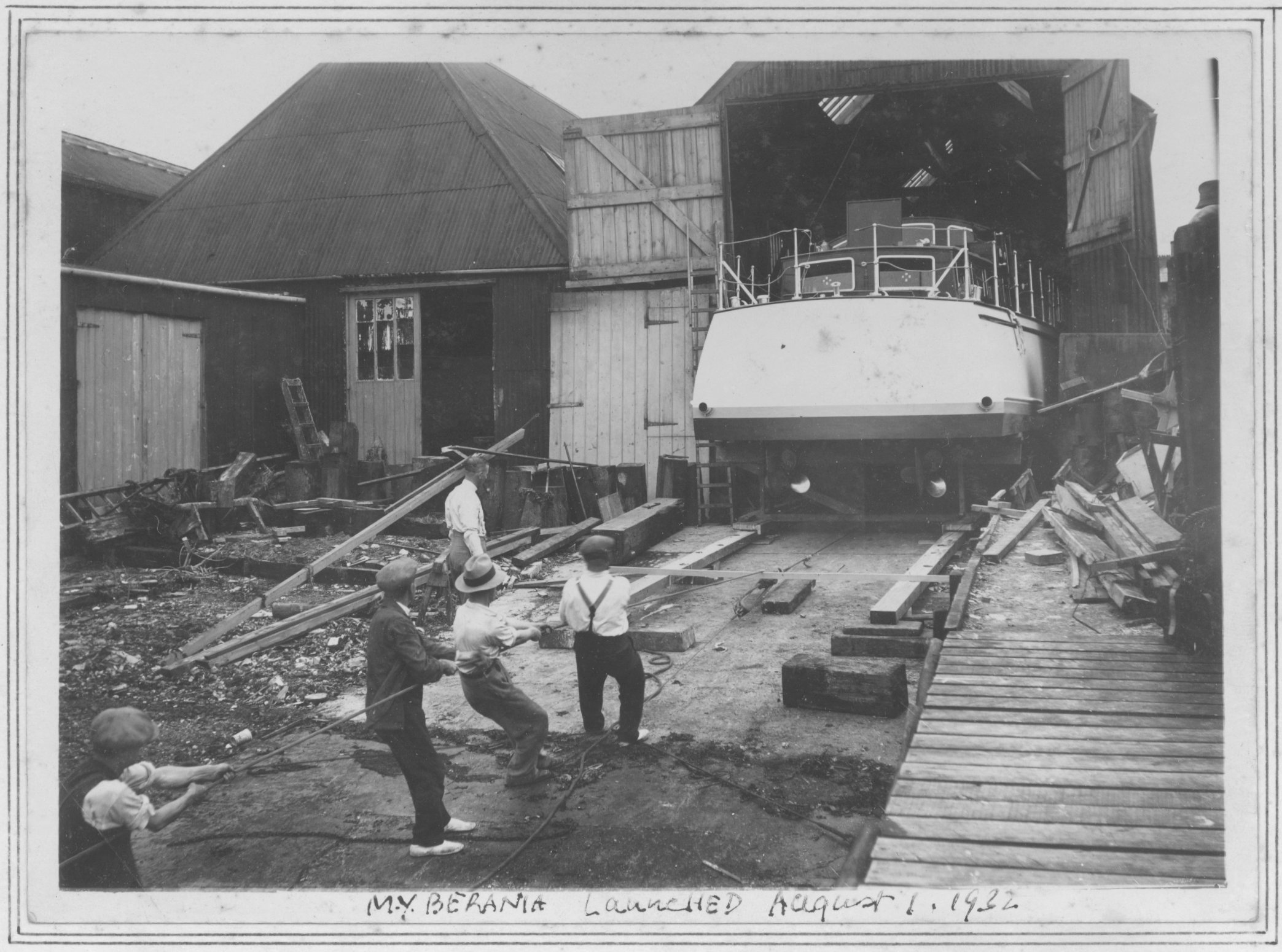 Launching Berania Aug 1 1932