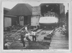 Launching Berania Aug 1 1932