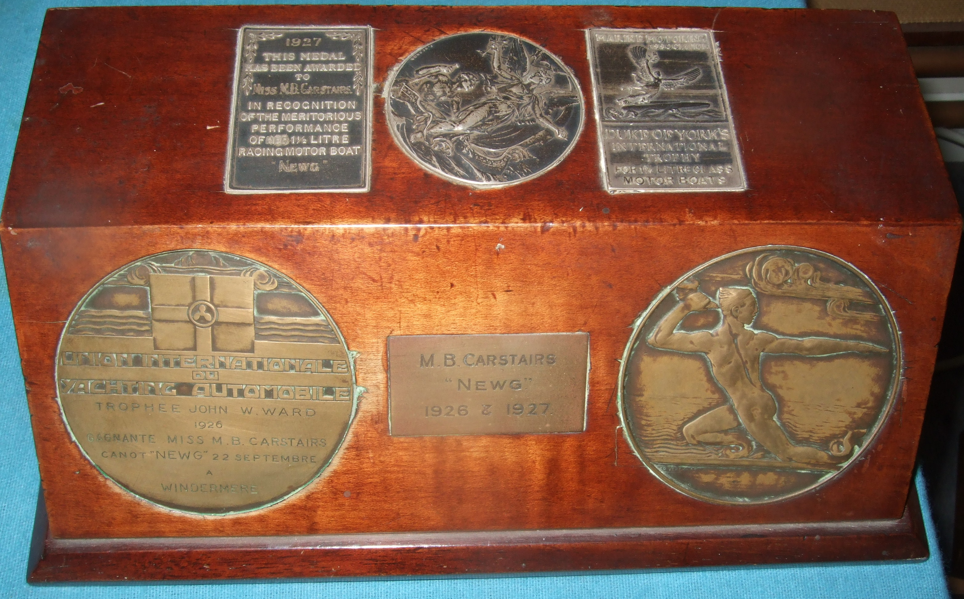 NEWG, Trophies won  1926 Windemere, and '27