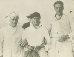Joe, Joe and Capt. C Marshall, Joe's manager