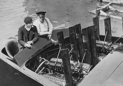 Joe and Joe, smoking over the engines on Estelle IV
