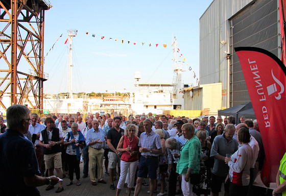 The 'Shed' hosts the Cowes Classic Boat Week Tuesday prize giving