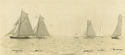 HRYC regatta June 1924, start over 10 tons.  Douglas Went photo