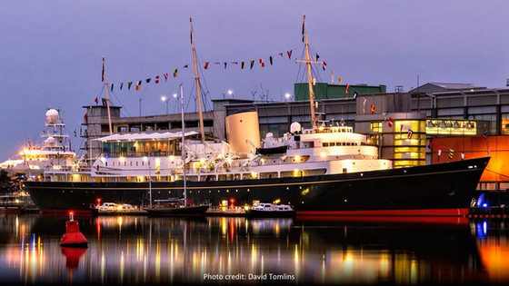 Coweslip on display with the Royal Yacht Britannia in Edinburgh