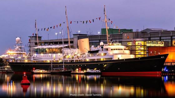 Coweslip on display with the Royal Yacht Britannia in Edinburgh