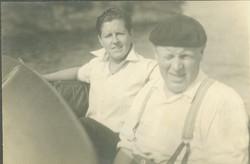 Joe Carstairs and Joe Harris, engineer