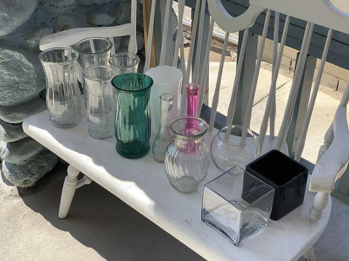 Old Crystal Lamp and Vase
