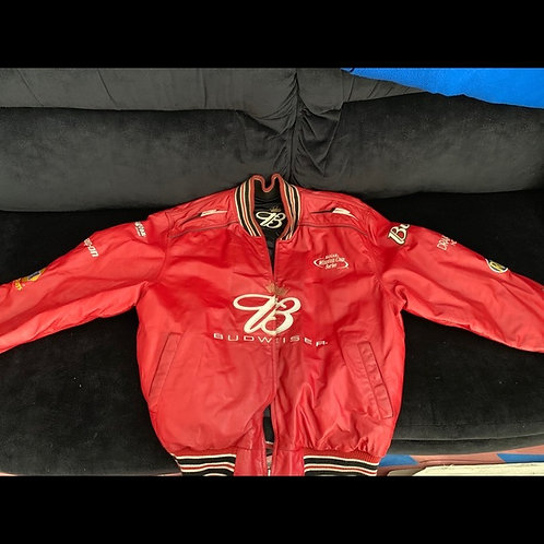 Dale Earnhardt JR Budweiser Racing Jacket 2-Sides
