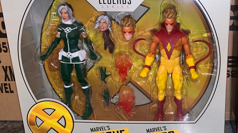 Marvel Legends Pyro and Rogue