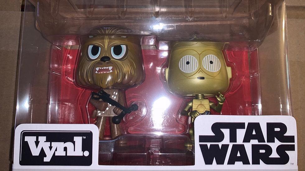 Funko Vynl C-3PO and Chewbacca