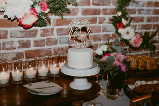 Photography: Christine Flower Photography  Laser Cut: Happily Ever Etched  Cake: Layer Cake Bakery
