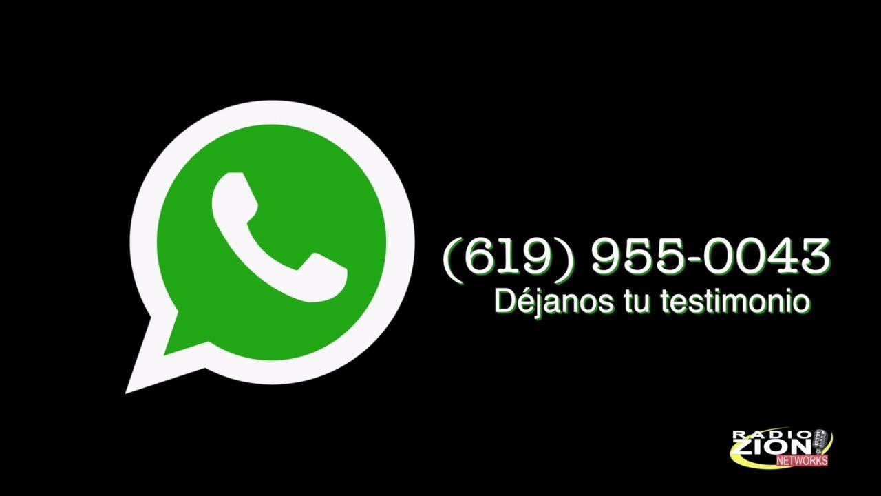 Déjanos un mensaje un nuestro Whatsapp (619) 955-0043