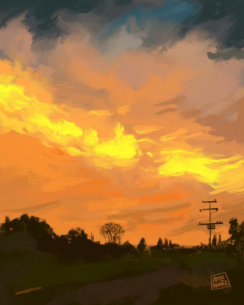 Sunset Speed Paint