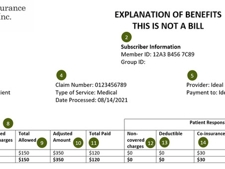 """How to Read an """"Explanation of Benefits"""" from your Insurance Company"""