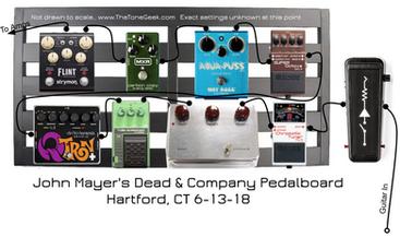 John Mayer's 2018 Dead & Company Pedals