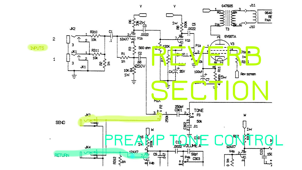 Fender Dual Professional Block Schematic