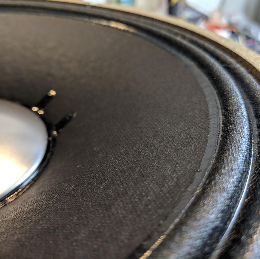 Cloth surround from a JBL E120 kit