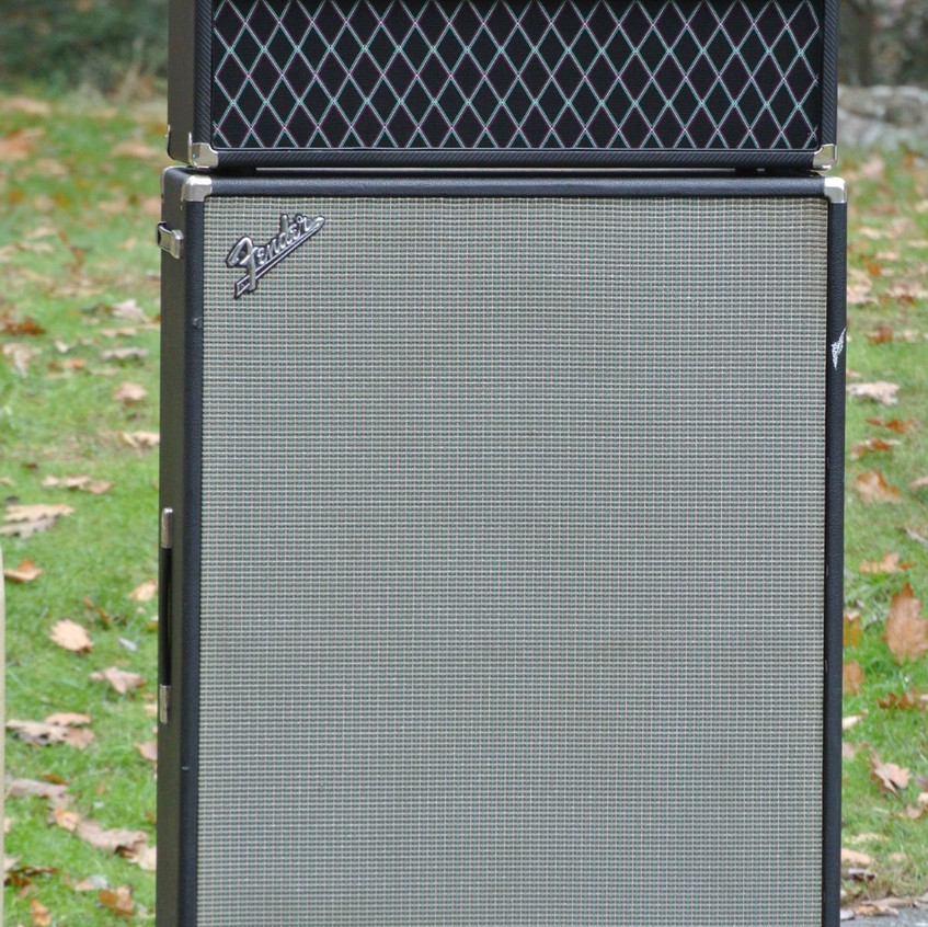 My Two Rock JM Circuit clone on top of a 1968 Fender Bandmaster Cabinet.