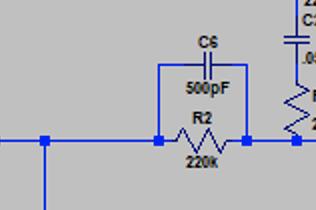 500pf/220k combo