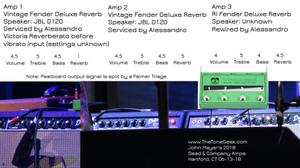 John Mayer's 2018 Dead & Company Amplifier Settings Fender Deluxe Reverb