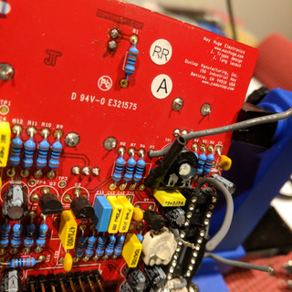Adding heat shrink to R5 and showing soldering ground pad for MN3101 Ground