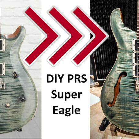 My PRS CE24 Semi-Hollow to Super Eagle (style) Conversion!