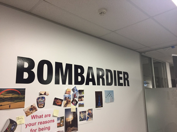 Presenting at BOMBARDIER