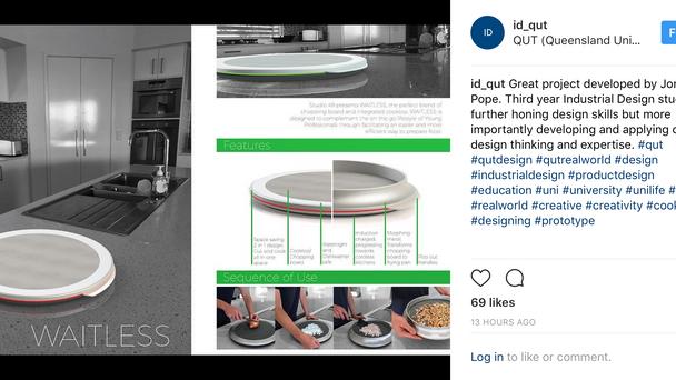 Design Featured on the QUT Industrial Design Instagram