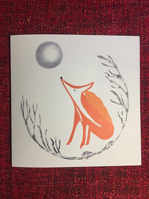 Zen Fox greetings card
