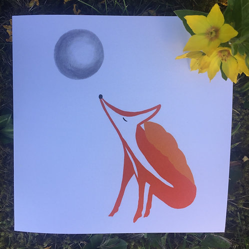 'Zen Fox' greetings card