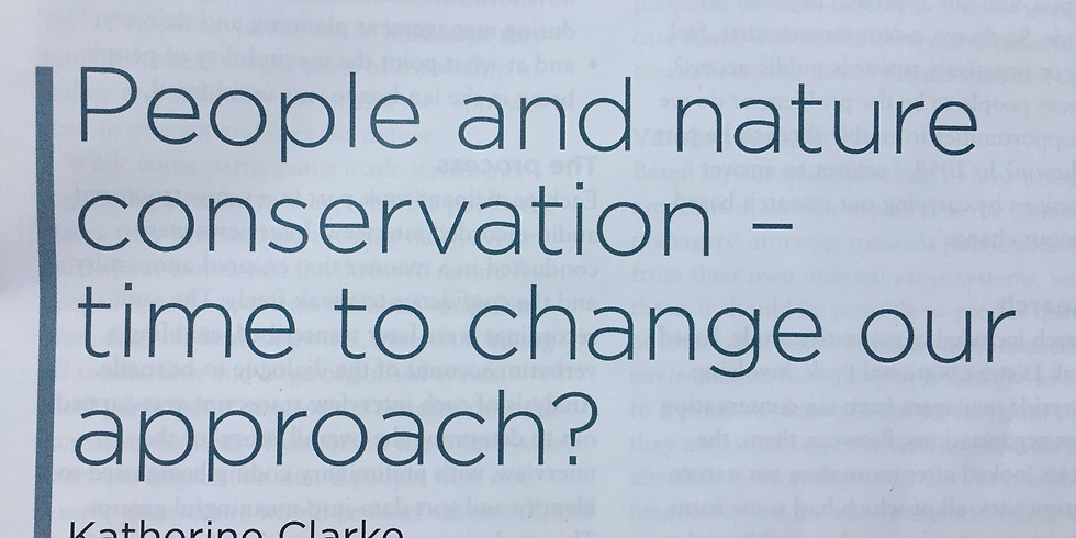 Part Two - People, the other half of conservation: Applying a social-ecological systems approach