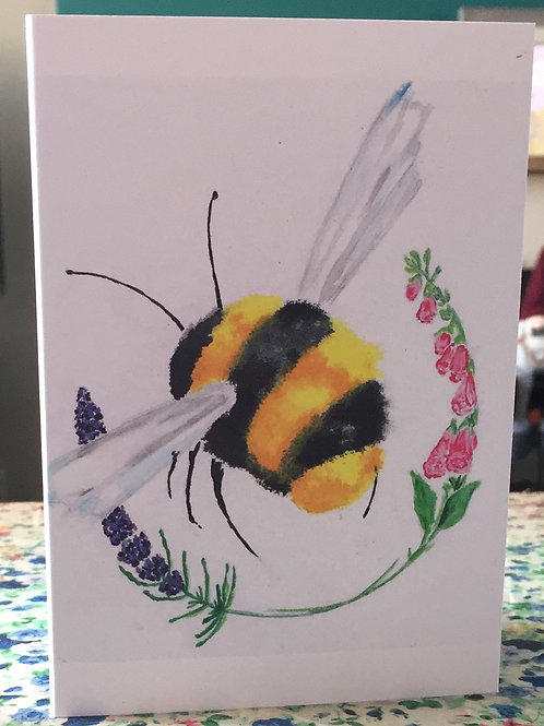 Buzzy Bumbling greetings card