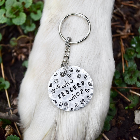 Who Rescued Who? Keychain for Rescues!
