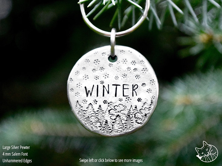 Snowy Forest Pet Tag