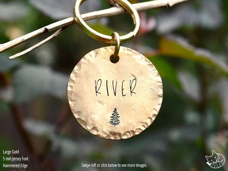 Pine Tree Pet Tag